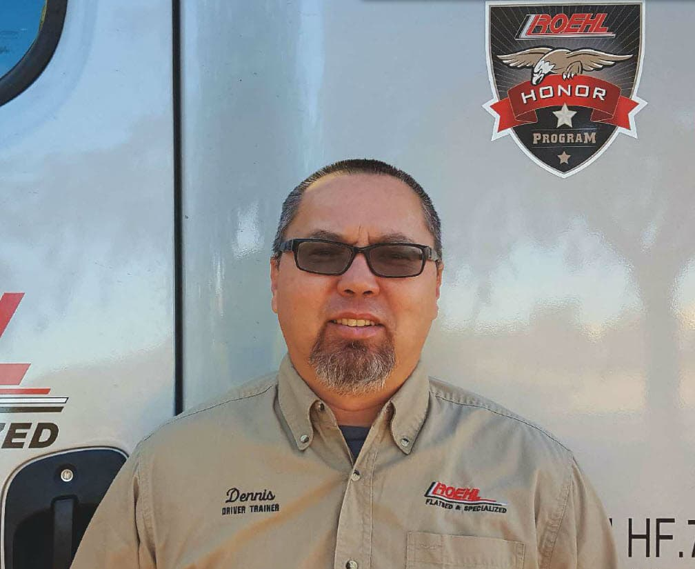 Dennis Rellins, Roehl Owner Operator, featured in national military magazine Teaser
