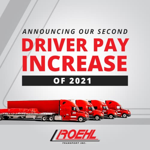 2nd Truck Driver Pay Increase of 2021 Announced!