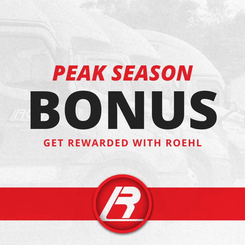 Roehl Drivers Earn 2020 Peak Season Bonus  Teaser