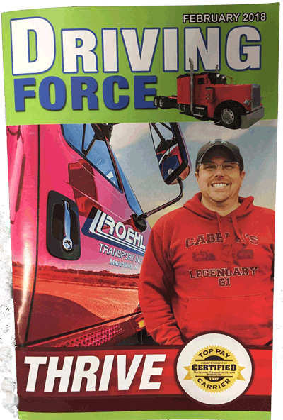 February 2018 Driving Force Magazine Cover featuring Roehl's Shawn Allman