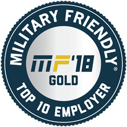 Military Friendly Top Ten Gold 2018