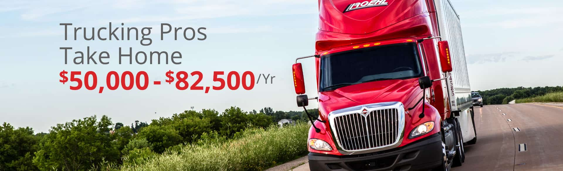 Top Paying Trucking Jobs...At Roehl Teaser