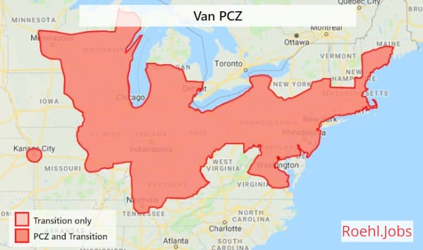 Van National Primary Commercial Zone Map