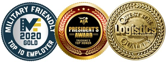 Roehl Awards for Military Friendly Employer, ATA President's Award & Quest for Quality