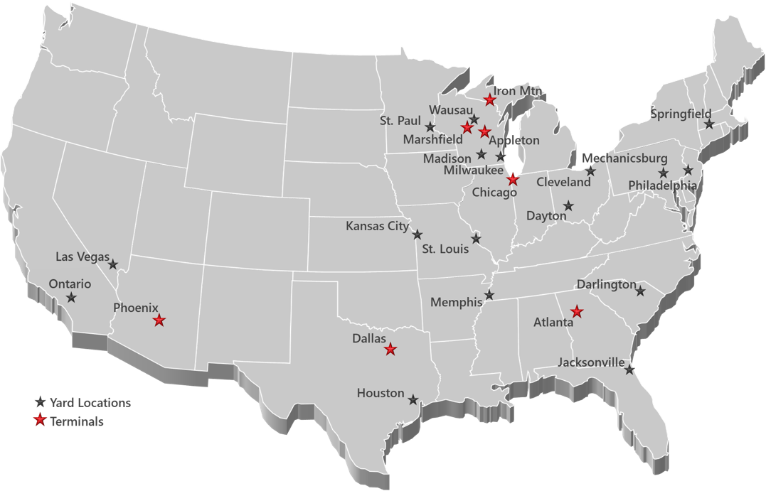 Roehl Locations Map